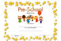 Preschool Diploma Certificate Template 7  Kindergarten inside Amazing Preschool Graduation Certificate Free Printable