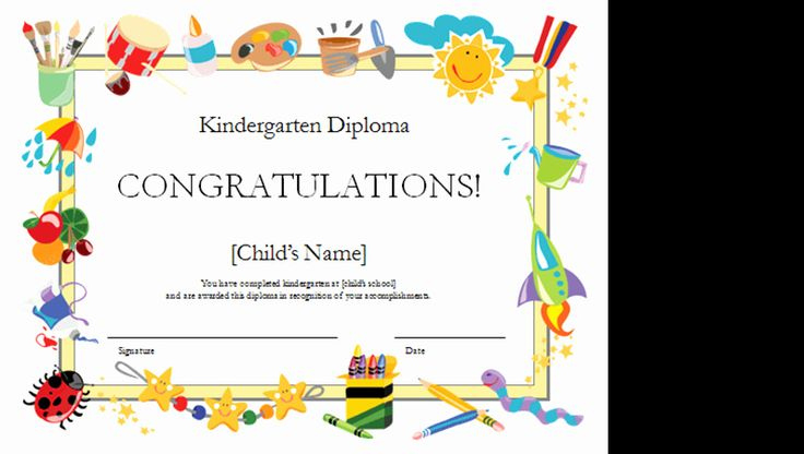 Preschool Diploma Template Word New Kindergarten Diploma with Printable Daycare Diploma Template Free