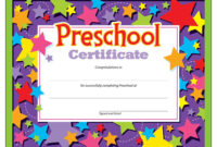 Preschool Graduation Certificate  30 Count  Ctt Graphics intended for Pre K Diploma Certificate Editable Templates