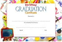 Preschool Graduation Certificate Editable Free Version 1 regarding Free Pre K Diploma Certificate Editable Templates