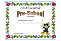 Preschool Graduation Certificate Free Printable 10 Designs inside Best Free Printable Graduation Certificate Templates