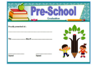 Preschool Graduation Certificate Free Printable 10 Designs intended for 10 Kindergarten Diploma Certificate Templates Free