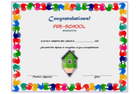 Preschool Graduation Certificate Free Printable 10 Designs with regard to Kindergarten Graduation Certificate Printable