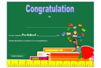 Preschool Graduation Certificate Free Printable 10 Designs within Kindergarten Diploma Certificate Templates 10 Designs Free