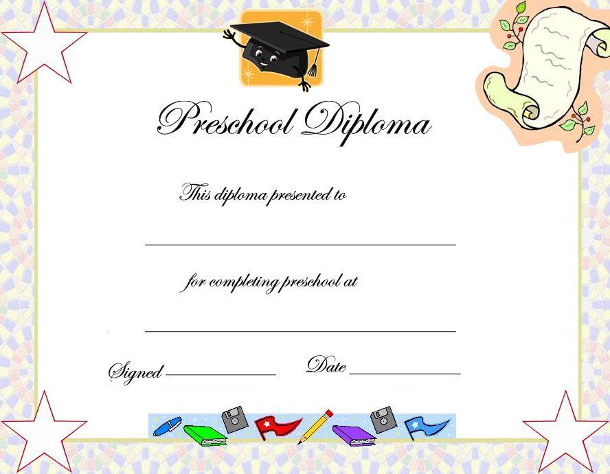 Preschool Graduation Certificate Template Free  Best with Graduation Gift Certificate Template Free