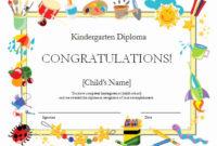 Preschool Graduation Certificate Template New Kindergarten regarding Preschool Graduation Certificate Free Printable