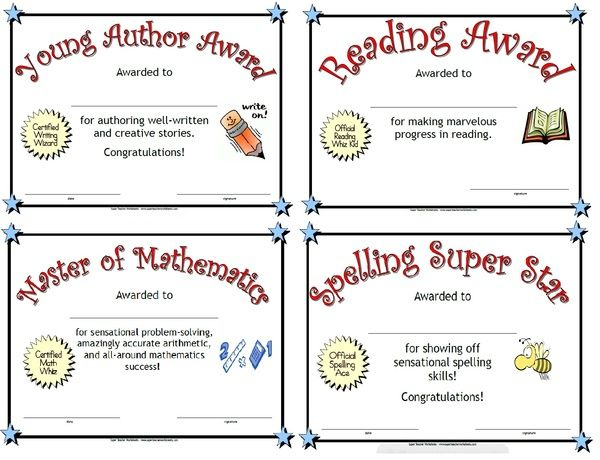Print These Award Certificates To Celebrate Students For Handwriting Award Certificate Printable