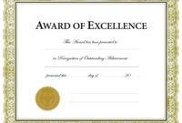 Printable Award Templates  Colonarsd7 For Blank Award for Free Printable Blank Award Certificate Templates