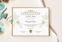 Printable Blank Certificate Template Editable Certificate within Editable Stock Certificate Template