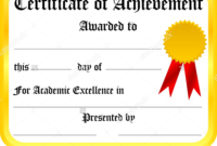 Printable Certificate Of Achievement Design Templates inside Firefighter Certificate Template Ideas