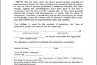 Printable Certificate Of Completion Construction Project intended for Printable Certificate Of Construction Completion