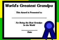 Printable Certificates For Grandpa World'S Greatest inside Worlds Best Mom Certificate Printable 9 Meaningful Ideas