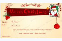 Printable Christmas Gift Voucher Template  Word Layouts within Free Merry Christmas Gift Certificate Templates