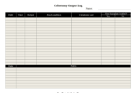 Printable Colostomy Output Log in Amazing Medication Inventory Log Template