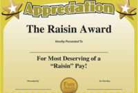 Printable Funny Work Awards Certificate Of Appreciation pertaining to Merit Certificate Templates Free 10 Award Ideas