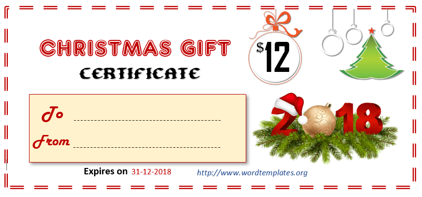 Printable Gift Certificate Templates For 2018  15 Free pertaining to Amazing Present Certificate Templates