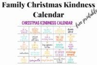 Printable Kindness Calendar In 2020  Family Christmas regarding Kindness Certificate Template Free