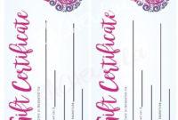 Printable Nail Salon Gift Certificate Template Manicure for Nail Gift Certificate Template Free