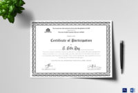 Printable Participation Certificate Design Template In Psd with regard to Certificate Of Participation Template Doc