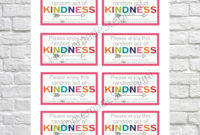 Printable Random Act Of Kindness Cards Raok Pay It with Kindness Certificate Template Free