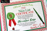Printable Santa'S Nice List Certificatediy Santa with regard to Santas Nice List Certificate Template Free