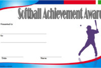 Printable Softball Certificate Templates 10 Best Designs intended for Best Coach Certificate Template