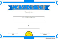 Printable Softball Certificate Templates 10 Best Designs throughout Amazing Free Teamwork Certificate Templates 10 Team Awards