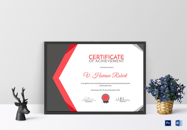 Printable Sports Certificates  Sampleprintable in Awesome Tennis Achievement Certificate Templates