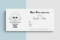 Printable Tattoo Gift Certificate Templates In Ms Word for Tattoo Gift Certificate Template