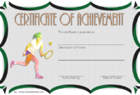Printable Tennis Certificate Templates Free 20 Great regarding Amazing Tennis Tournament Certificate Templates