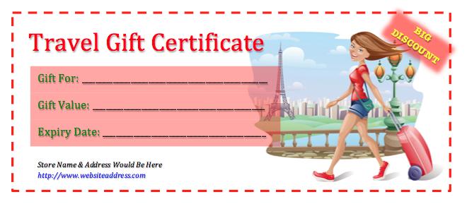 Printable Travel Voucher Template  Besttravels regarding Free Travel Gift Certificate Template