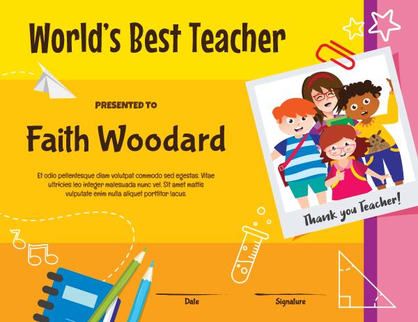 Printable Worlds Best Teacher Award Certificate Template throughout Best Teacher Certificate Templates Free
