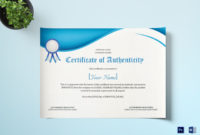 Product Authenticity Certificate Design Template In Psd Word for Best Certificate Of Authenticity Template