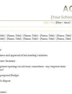 Pta Meeting Agenda Template throughout Amazing Ward Council Agenda Template