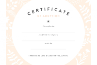 Puppy Adoption Certificate Templates with regard to Amazing Dog Training Certificate Template Free 10 Best