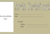 Puppy Birth Certificate Template  10 Special Editions within Certificate For Baking 7 Extraordinary Concepts