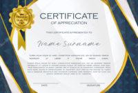 Qualification Certificate Appreciation Design Elegant with regard to Qualification Certificate Template