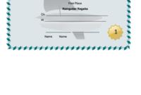 Raingutter Regatta First Place Certificate Template for Quality First Place Certificate Template