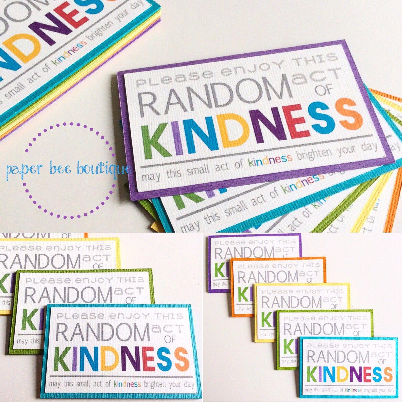 Random Acts Of Kindness Cards Already Assembled 1 Dozen regarding Kindness Certificate Template Free