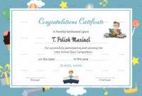 Reading Award Congratulations Certificate Design Template for Congratulations Certificate Template