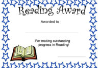 Reading Certificate  Mgp with Reader Award Certificate Templates