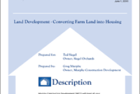 Real Estate Land Development Proposal  5 Steps within Cost Plus Building Contract Template