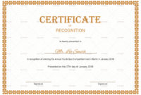Recognition Certificate Design Template In Psd Word for Amazing Certificate Of Appreciation Template Word