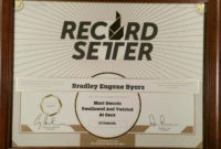 """Recordsetter World Record Certificate """"Most Swords intended for Best Guinness World Record Certificate Template"""