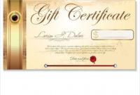 Restaurant Gift Certificate Templates  Addictionary with Awesome Restaurant Gift Certificate Template