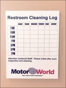 Restroom Cleaning Log  Template Business intended for Awesome Restaurant Start Up Cost Template