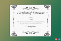 Retirement Certificate For Employee  Christmas Gift in Awesome Retirement Certificate Templates