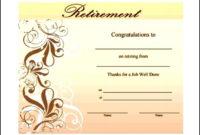 Retirement Certificate Template Download  Sample intended for Awesome Retirement Certificate Templates