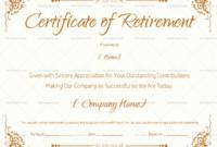 Retirement Certificate Template  Hand Plane Goodness Template regarding Amazing Free Retirement Certificate Templates For Word