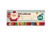 Retro Santa Gift Certificate Template Design inside Printable Sobriety Certificate Template 10 Fresh Ideas Free